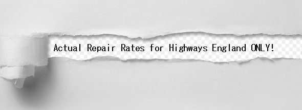 Highways England Repair Rates
